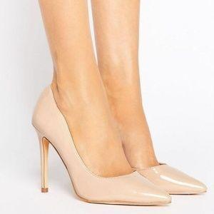 London Rebel Nude Patent Stiletto Heel Size 37